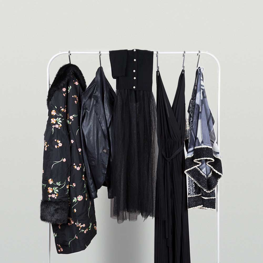 Clothes rack with new collection