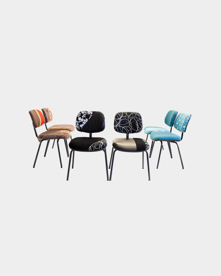 6 redecorated Ahrend chairs