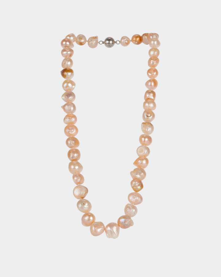 pearl necklace soft pink