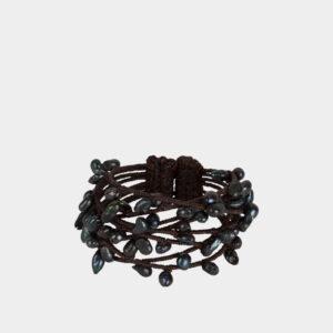 pearl bracelet navy/black