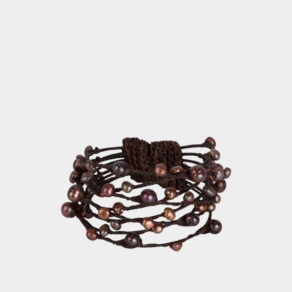 pearl bracelet brown
