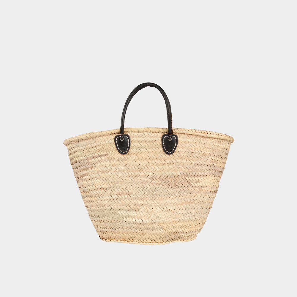basket fez natural black