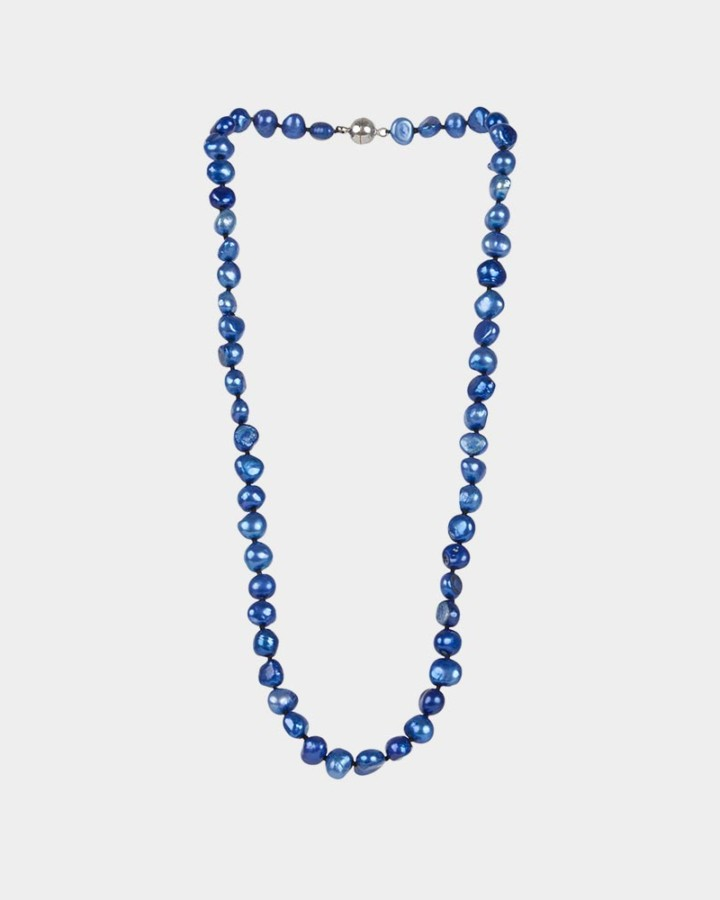pearl necklace cobalt