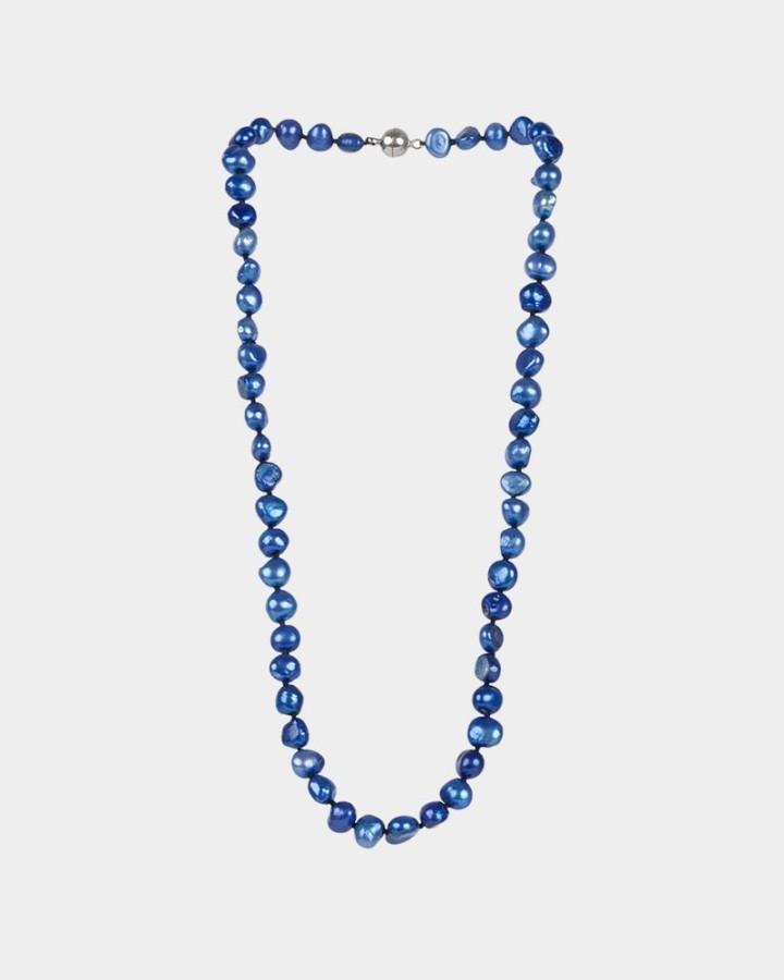 pearl necklace cobalt
