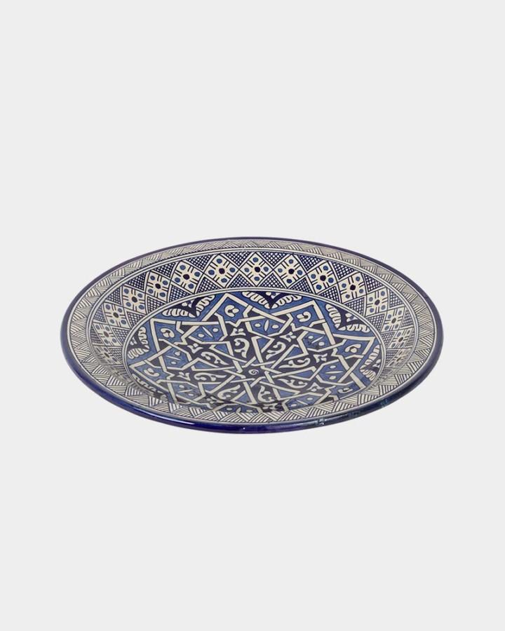 cobalt blue moroccan dish