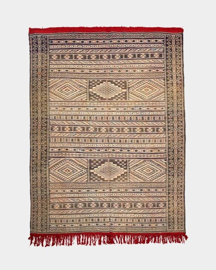 blue-grey wool carpet 160 x 122 cm