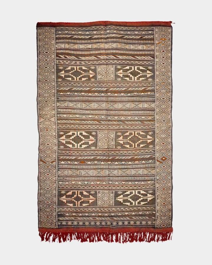 lue-grey wool carpet 185 x 120 cm
