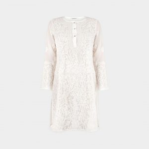 HAND EMBROIDERED OFF-WHITE TUNIC