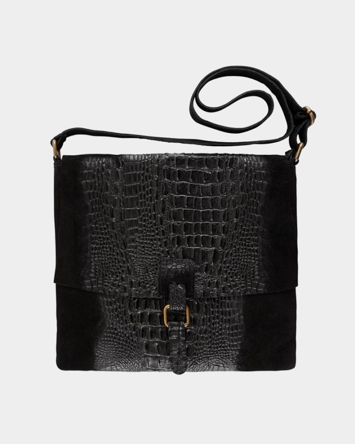 black croco bag