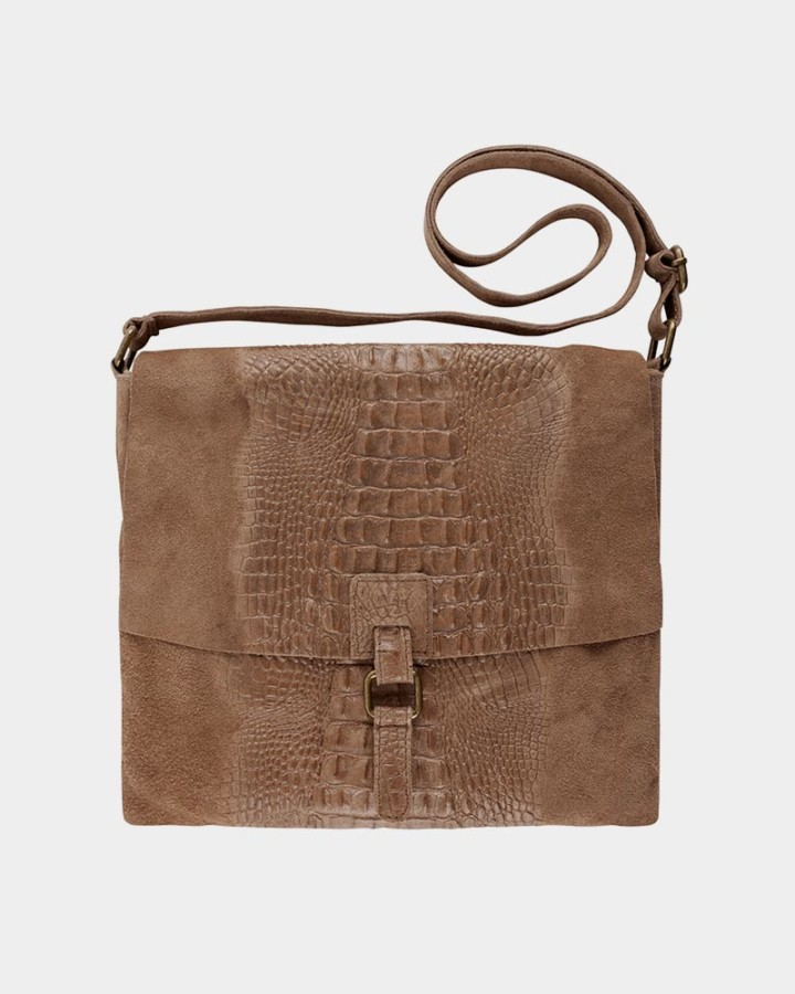 dark sand croco bag