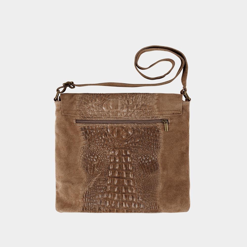 dark sand croco bag