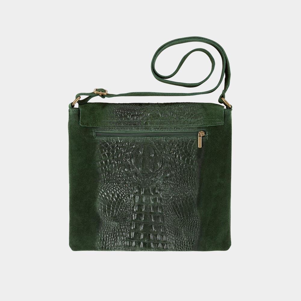 green croco bag