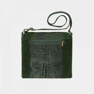 green croco bag