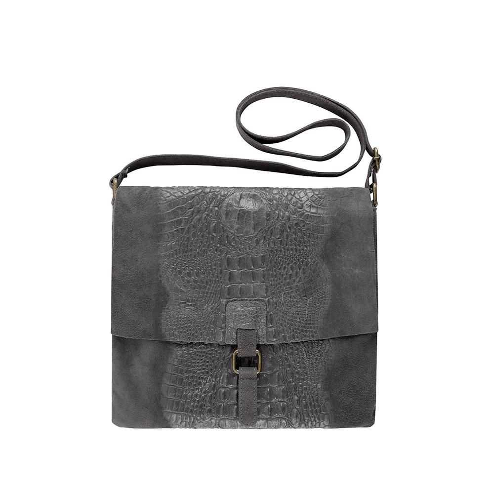 grey croco bag