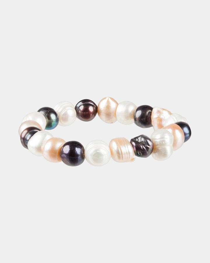 mixed light fresh water pearls bracelet