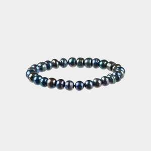 navy fresh water pearls bracelet