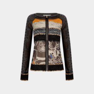 black cardigan with zip