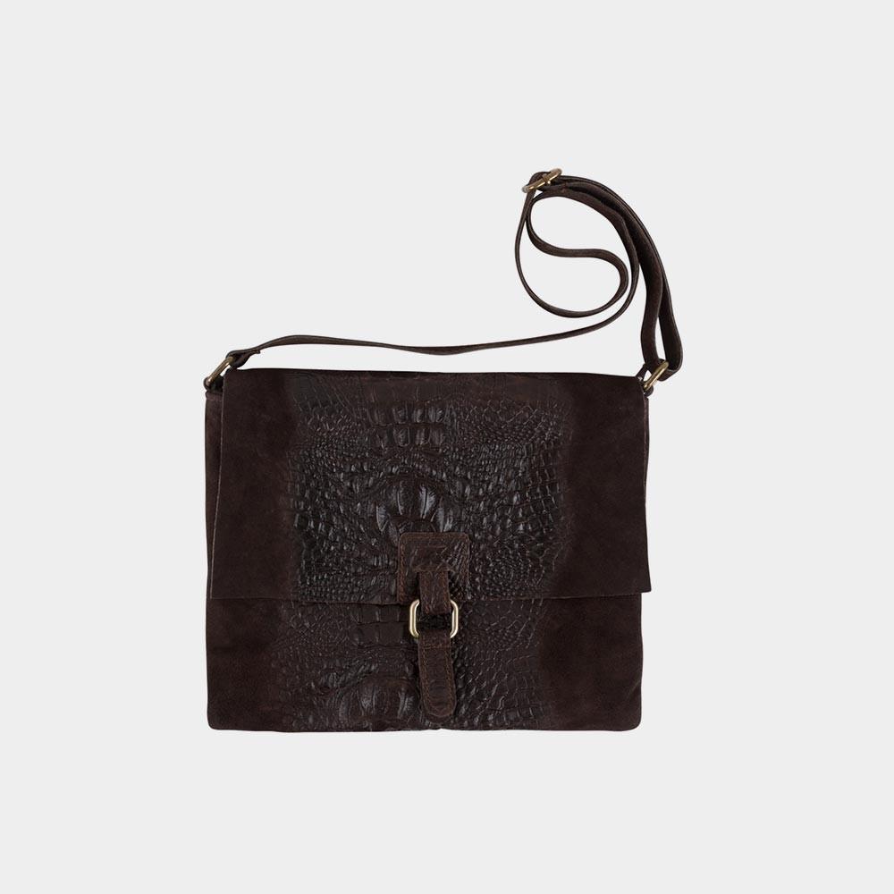 dark brown croco bag
