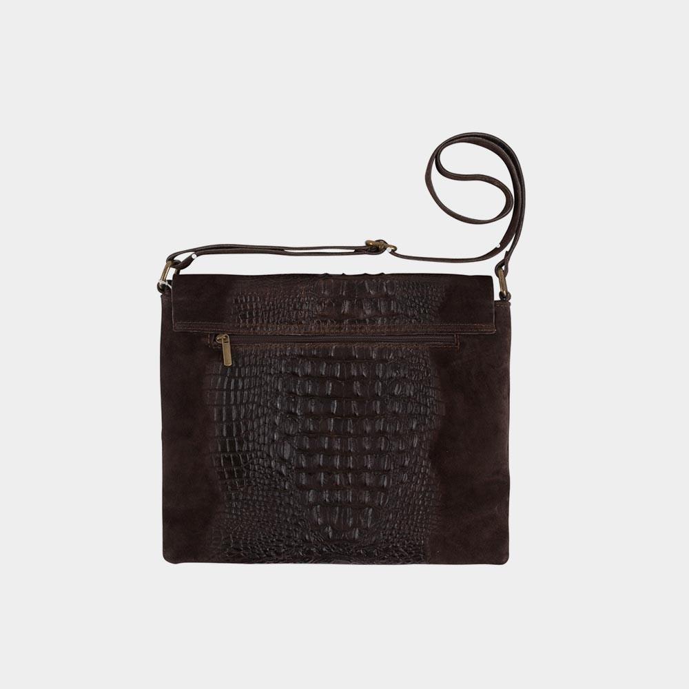 dark brown croco bag back