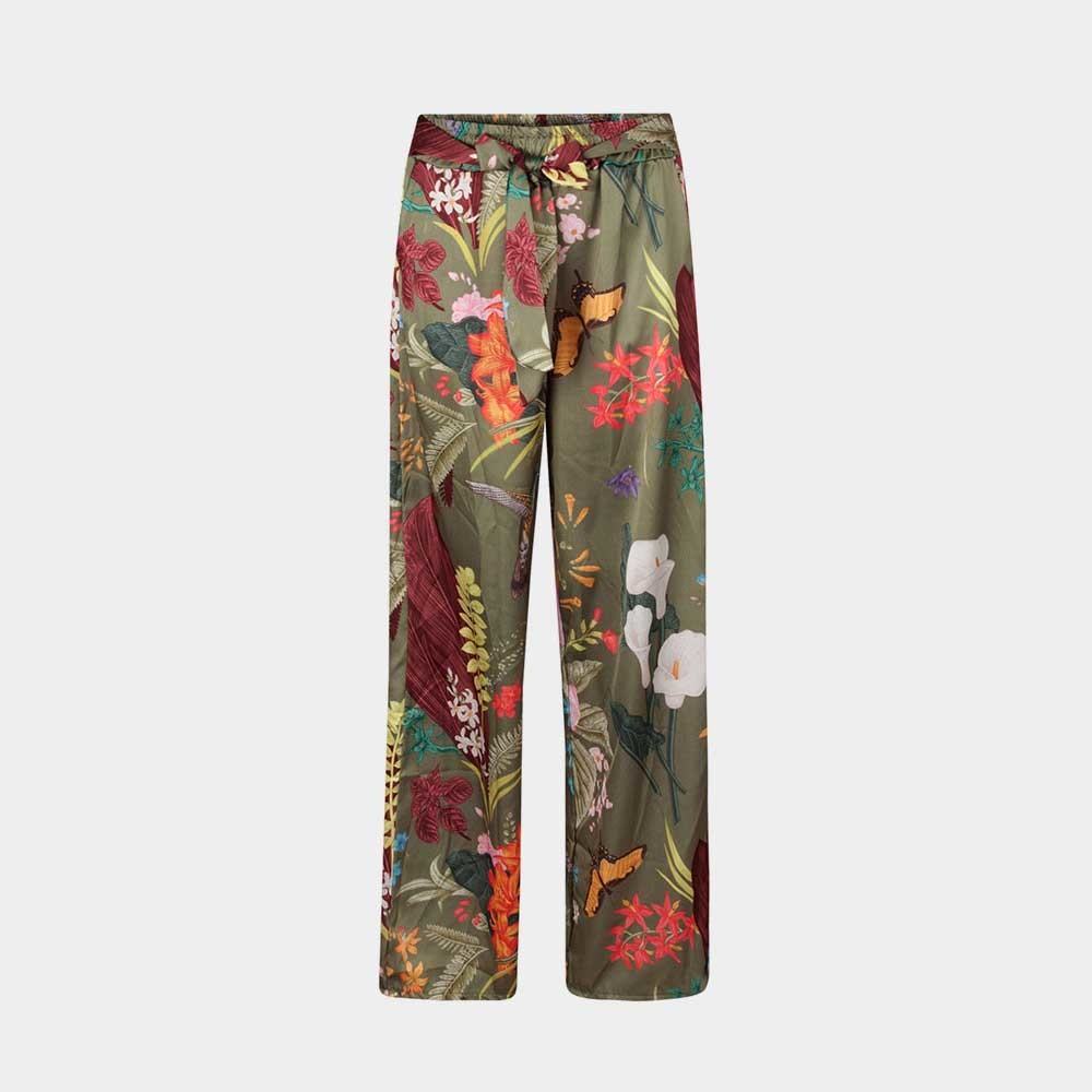 print wide print pants front