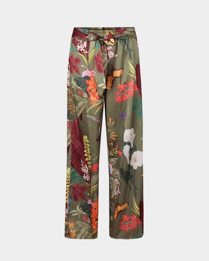 print wide print pants front