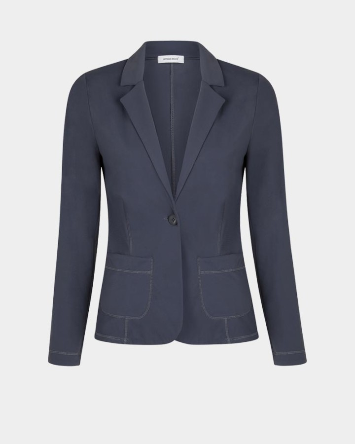 grijze stretch blazer