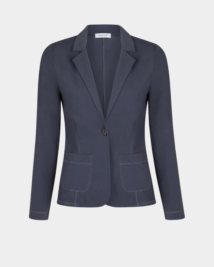 grijze stretch blazer
