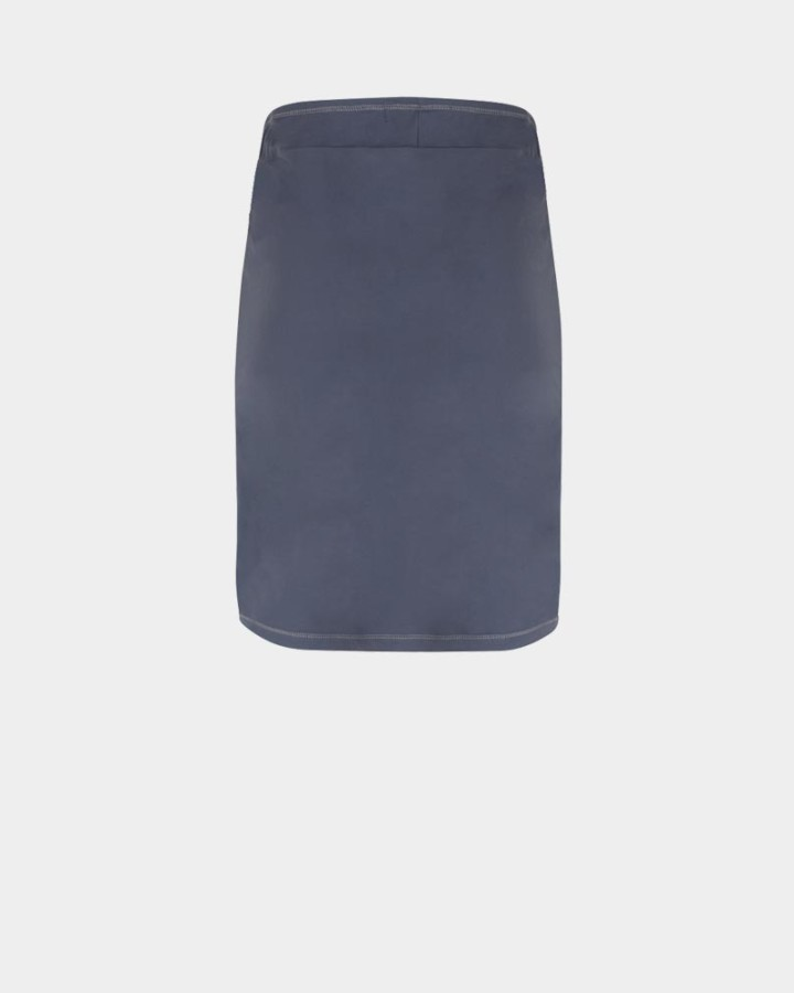 grijze kokerrok achterkant
