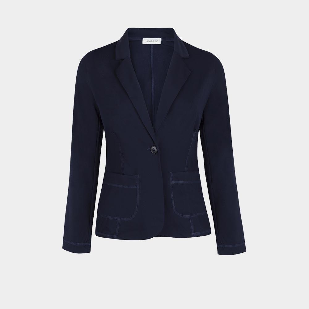 navy stretch blazer
