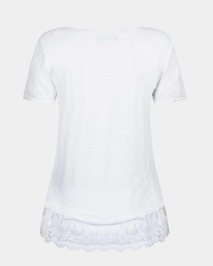 white lace top / wit kanten top