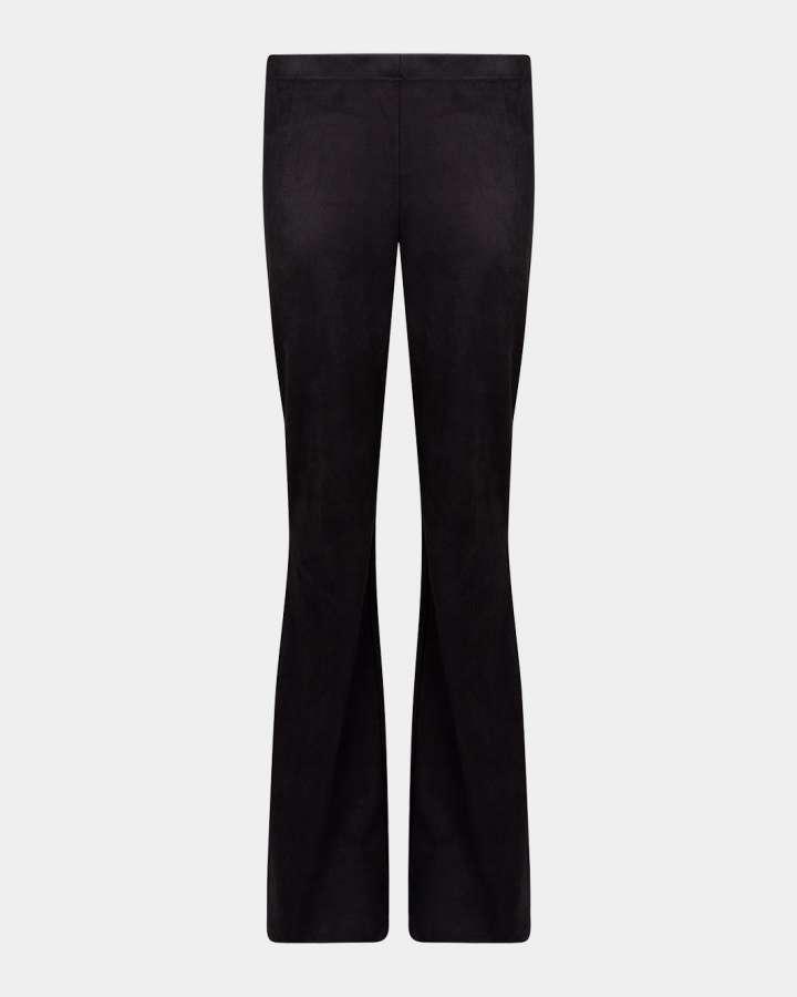 black flared pants/zwart flare broek