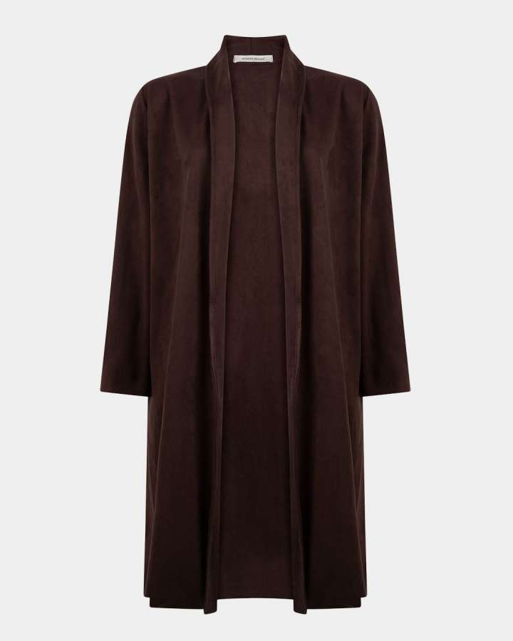 dark brown coat / donkerbruin jas