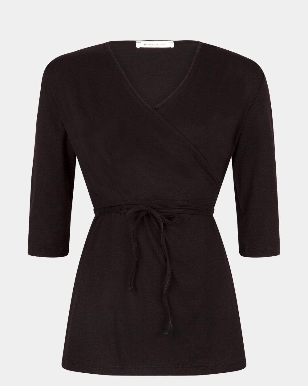 black wrap top / zwarte wikkeltop