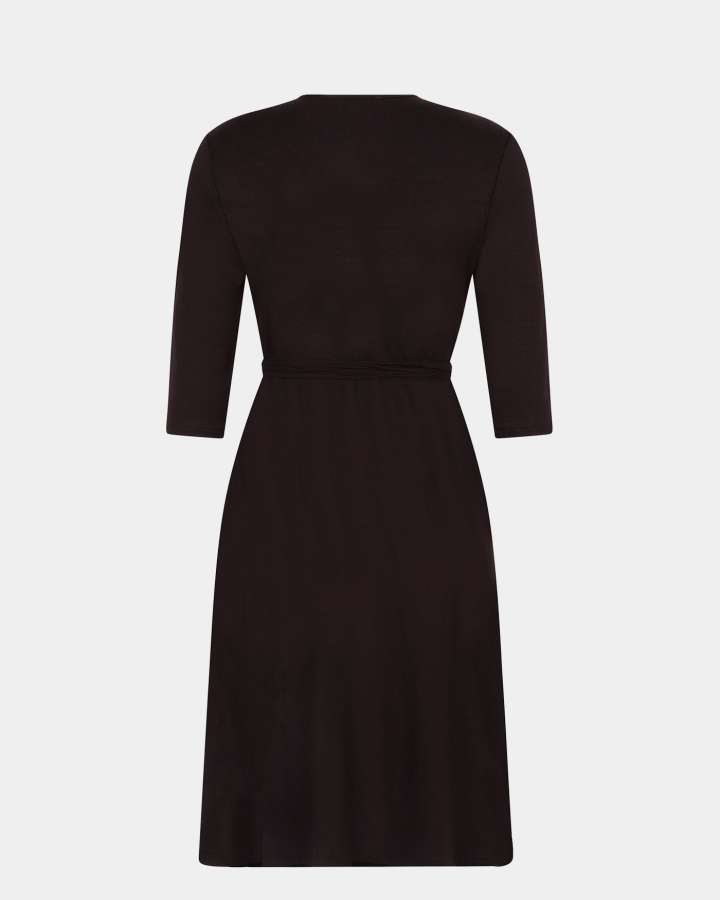 black wrap dress / zwart wikkeljurk