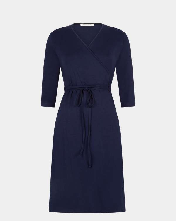 navy wrap dress / marine wikkeljurk