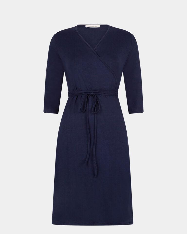 navy wrap dress / marine wikkeljurk