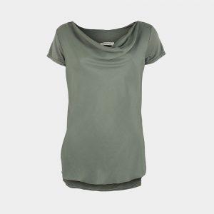 short sleeve drape jade green