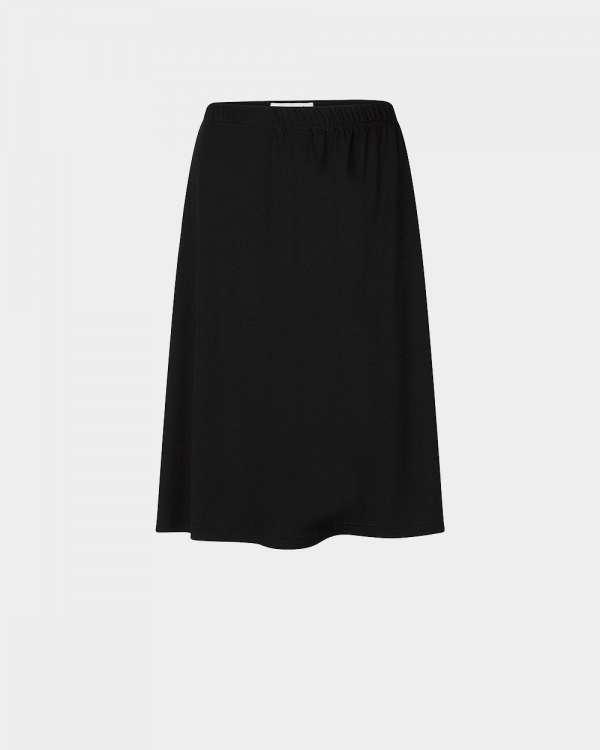 black knee-length fluid skirt