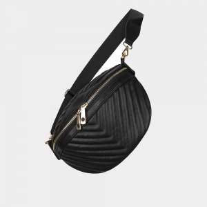 black leather crossbody-bag