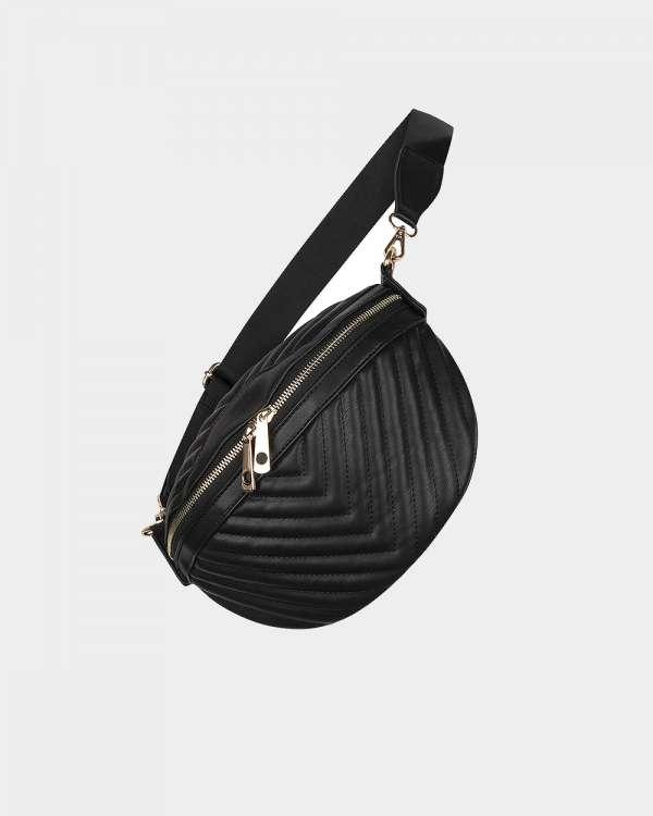 black leather crossbody-bag