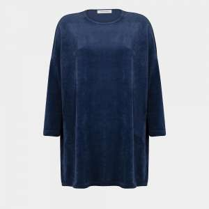front blue oversized nicky velours sweater