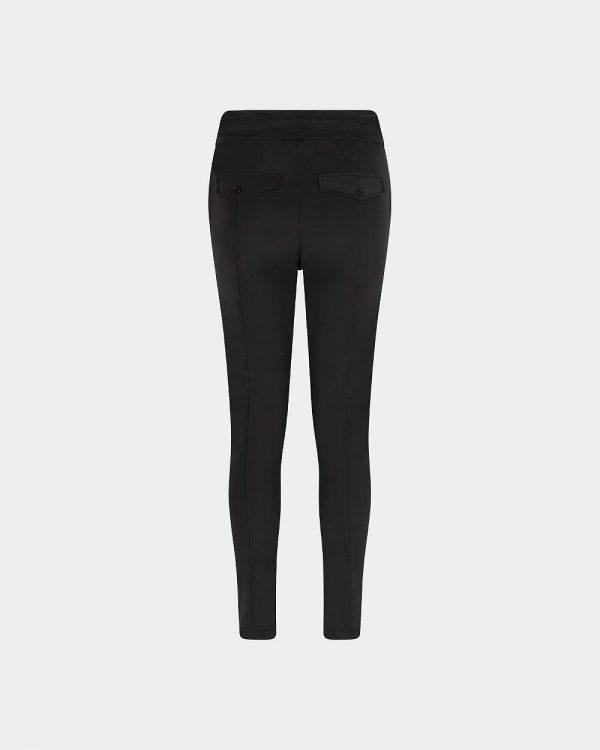 Slim Fit Pants Black