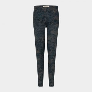 slim fit pants in blue petrol