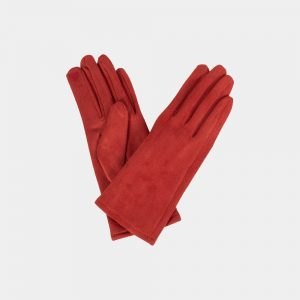 Brique Stretch Gloves Suedine