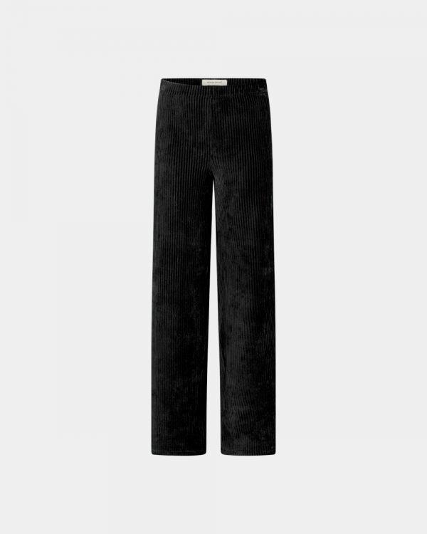 Wide pants in black