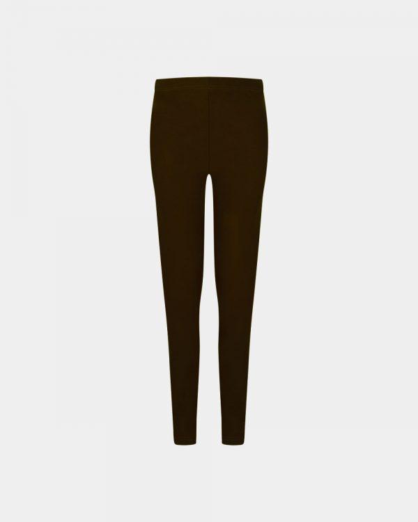 slim fit pants in dark chocolate