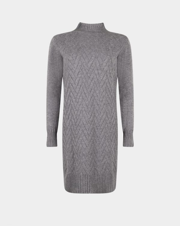 knitted dress grey
