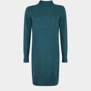 knitted dress petrol