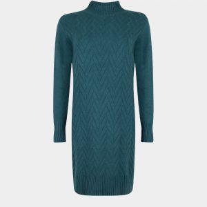 knitted dress petrol