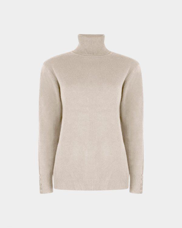turtleneck wool white